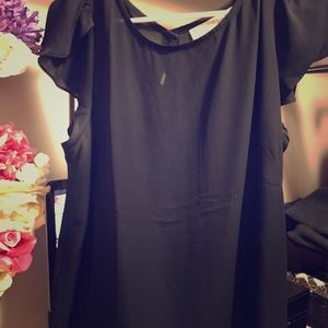 Black, sheer, float shirt from Loft, worn once